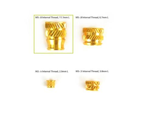 Heat-Set Insert Tapered, M5-.8 Internal Thread, 11.1mm L (x20)