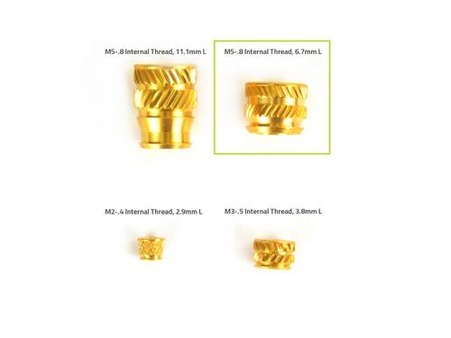 Heat-Set Insert Tapered, M5-.8 Internal Thread, 6.7mm L (x20)