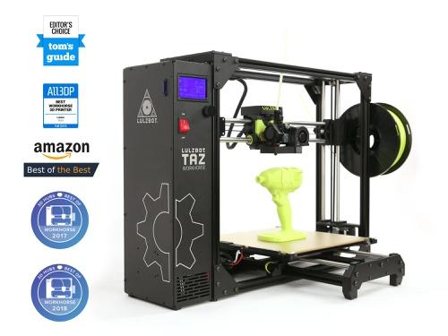 LulzBot TAZ 3D Printer, Workhorse, Boxed for Retail, NA